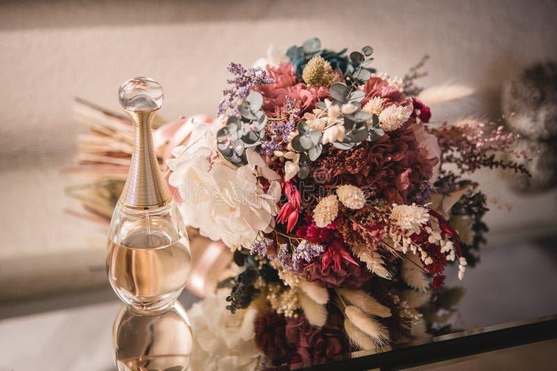 Heiratsblumenstraußblume mit fragance lizenzfreie stockbilder