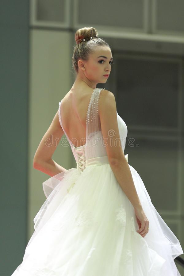 Heiratsshow an Suntec-Stadt Singapur stockfotos