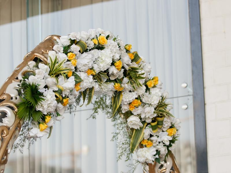 Heiratsstadium von Blumen entwerfen lizenzfreie stockbilder
