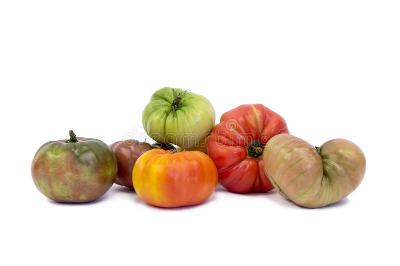 Heirloom tomatoes. Heirloom tomato tomatoes vegetable vegetables royalty free stock photography
