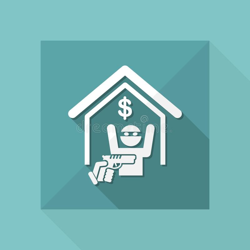 Heist icon. Flat and isolated vector eps illustration icon with minimal design and long shadow royalty free illustration