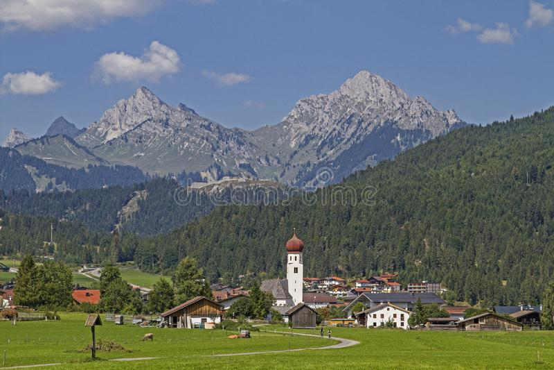 Heiterwang en el Tirol foto de archivo libre de regalías