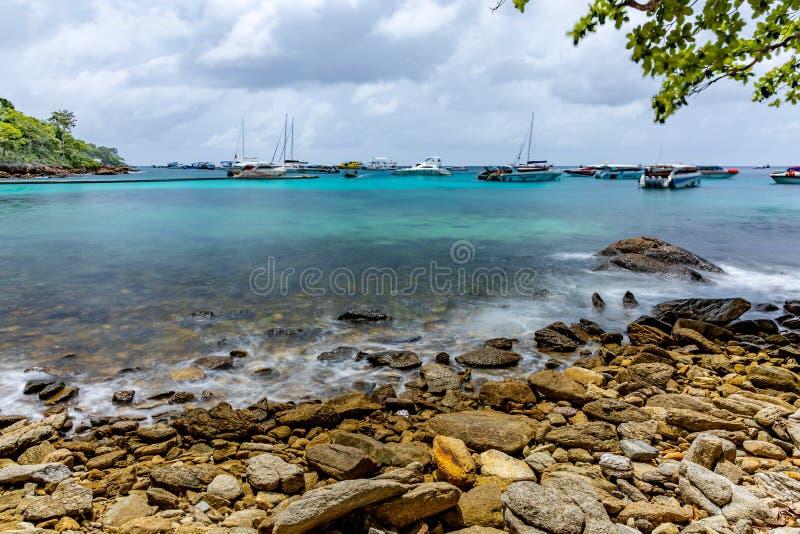 Hej wyspa urok morze fotografia royalty free