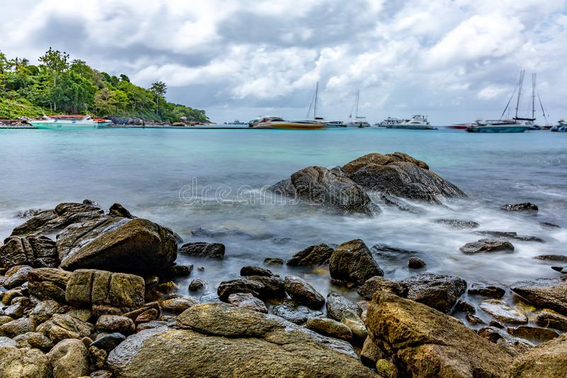 Hej wyspa urok morze obraz royalty free