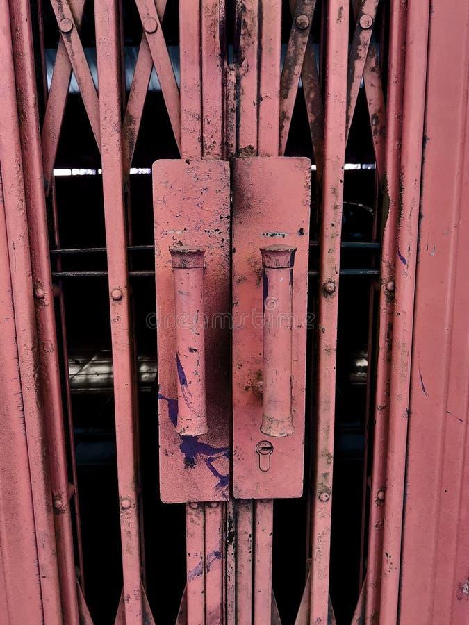 hek van rode roest royalty-vrije stock foto's