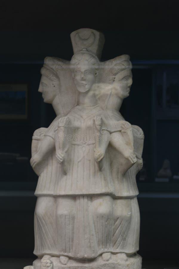 HEKATE Hecate was the goddess of magic Roman period. Turkey, Kutahya city museum, HEKATE Hecate was the goddess of magic royalty free stock photos