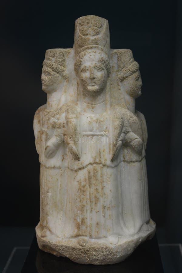 HEKATE Hecate was the goddess of magic Roman period. Turkey, Kutahya city museum, HEKATE Hecate was the goddess of magic royalty free stock photo
