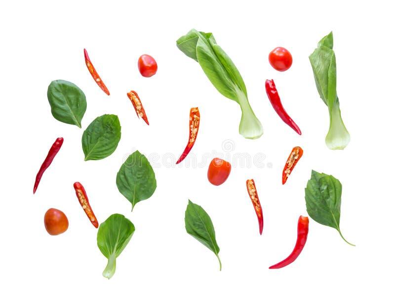 Hekel leggen groenten, kruiden en kruiden stock afbeeldingen