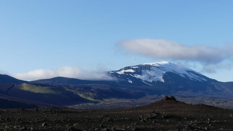 Hekla, одно из немногих активное vulcano в Исландии стоковое изображение rf