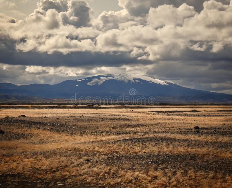 Hekla Volcano in Iceland royalty free stock photo