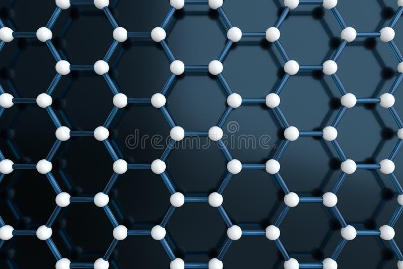 Heksagonalne ??czne linie, 3d rendering royalty ilustracja