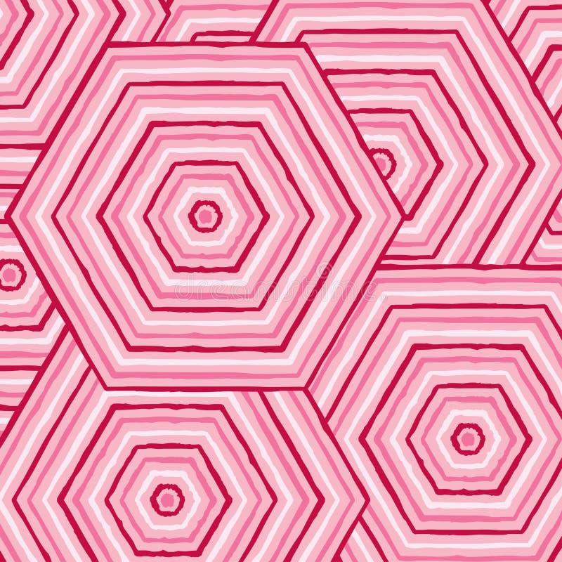 Heksagonalny abstrakcjonistyczny aborygen linii obraz ilustracji