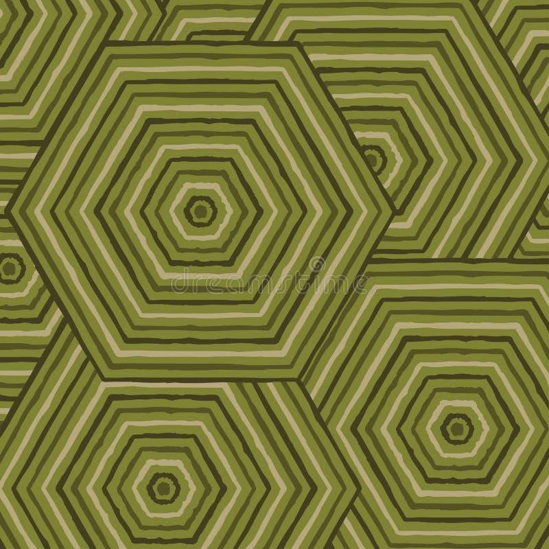 Heksagonalny abstrakcjonistyczny aborygen linii obraz ilustracja wektor