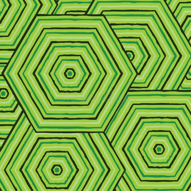 Heksagonalny abstrakcjonistyczny aborygen linii obraz royalty ilustracja