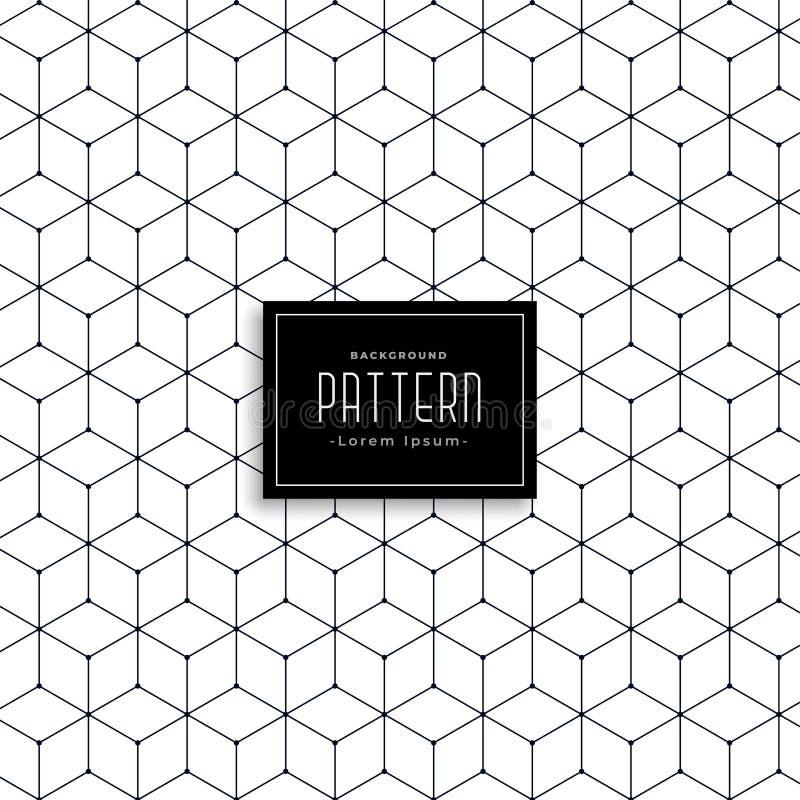 Heksagonalny geometryczny linia wzoru projekt royalty ilustracja