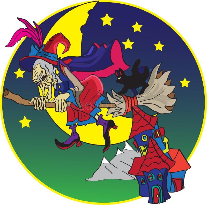 Heksen` s Bezem vector illustratie