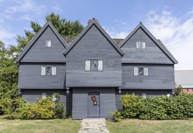 Heksenhuis, Salem, Massachusetts stock foto's