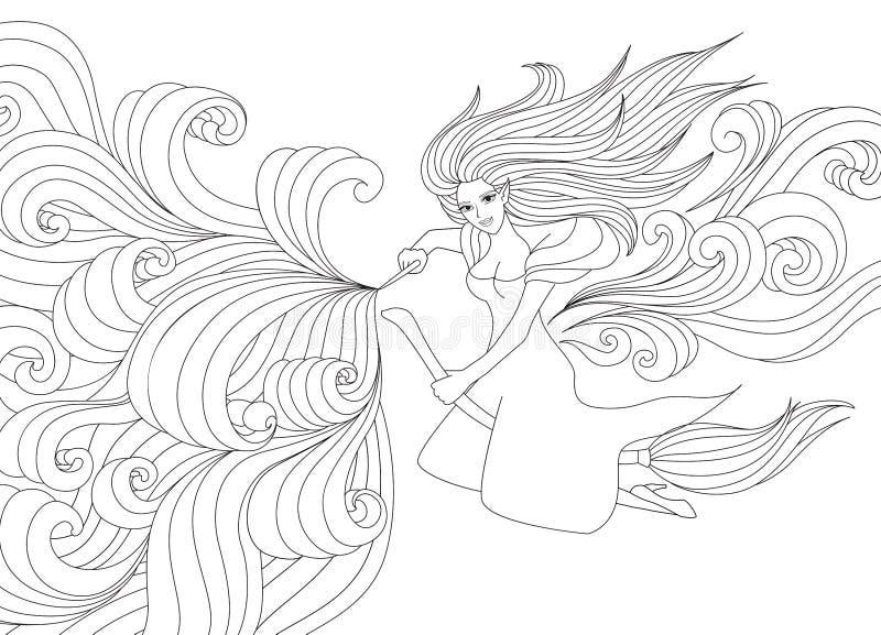 Heksenspelling stock illustratie