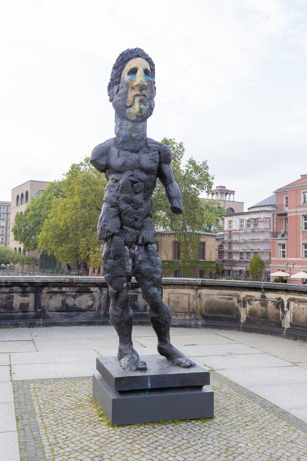 Hektor sculpture by Markus Lüpertz stock photography