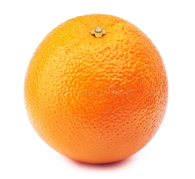 Hel apelsin som isoleras på vit royaltyfri bild