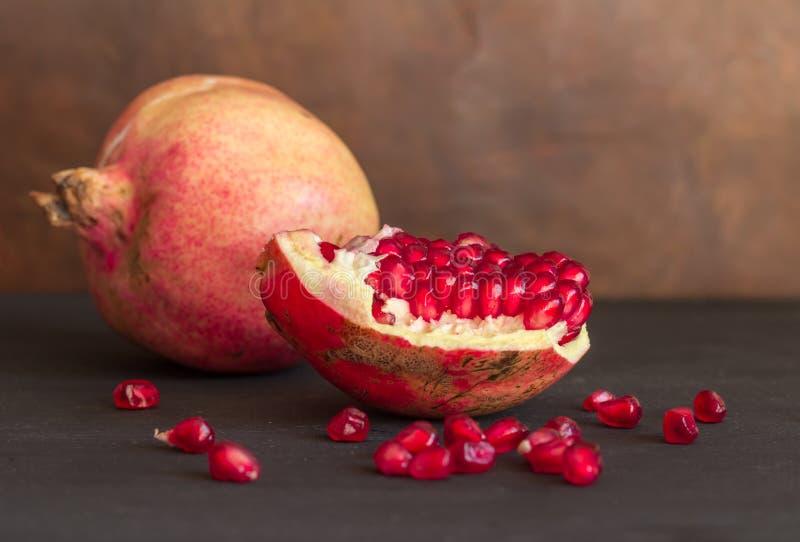 Hel fruktstilleben för granatäpple royaltyfri fotografi