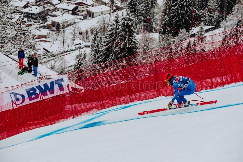 Hel Hahnenkamm Ski Race em declive do ¼ de Kitzbà fotos de stock royalty free