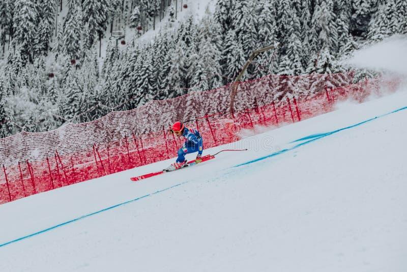 Hel Hahnenkamm Ski Race em declive do ¼ de Kitzbà imagens de stock royalty free