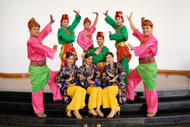 Hel traditionell malay royaltyfri fotografi
