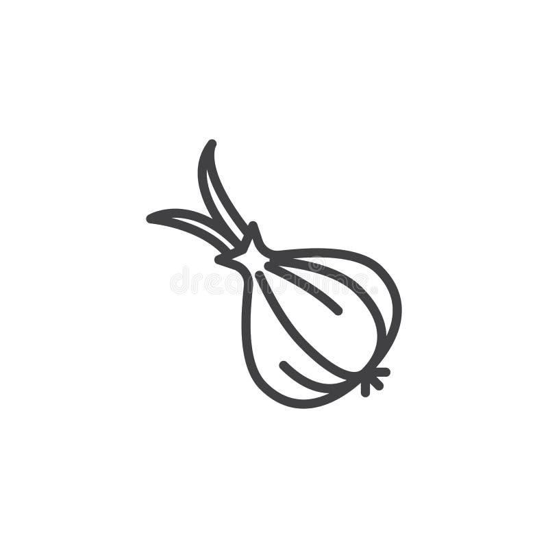 Hel vitlökkulalinje symbol vektor illustrationer