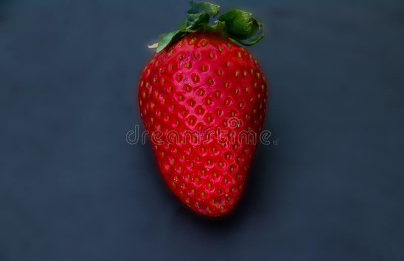 Hela jordgubbar med ett mörker kritiserar bakgrund royaltyfri foto