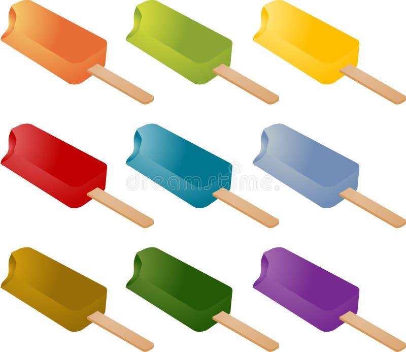 Helado congelado del popsicle ilustración del vector