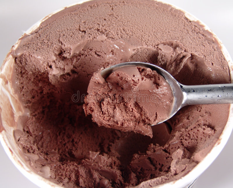 Helado De Chocolate Imagenes de archivo