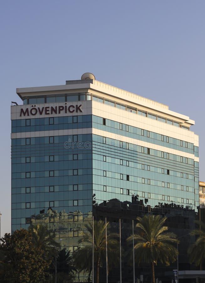 Helado de Moevenpick del emblema imagen de archivo