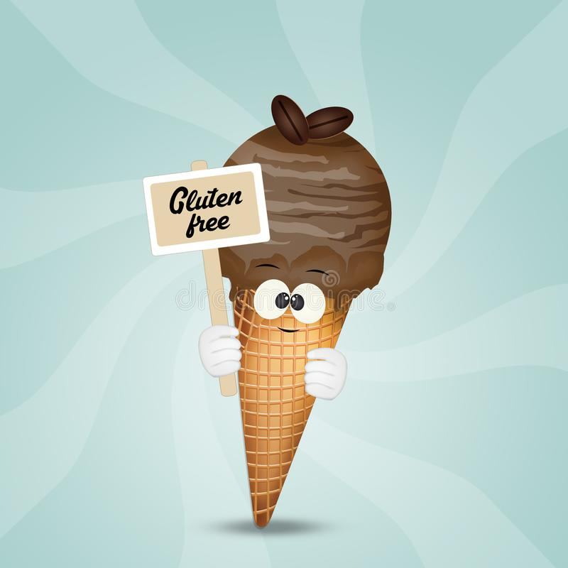 helado Gluten-libre libre illustration