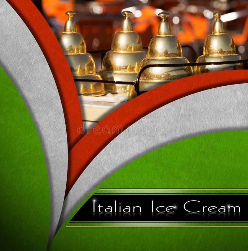 Helado italiano ilustración del vector
