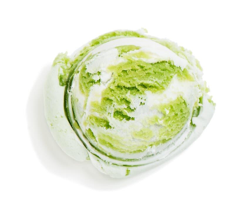 Helado verde y blanco imagen de archivo libre de regalías