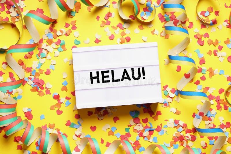 Helau é a chamada de um tolo alemão tradicional usada durante o carnaval fotografia de stock royalty free