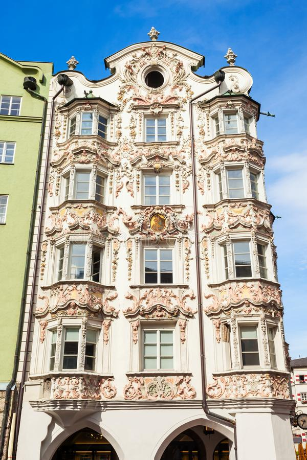 Helblinghaus大厦在因斯布鲁克 免版税库存照片