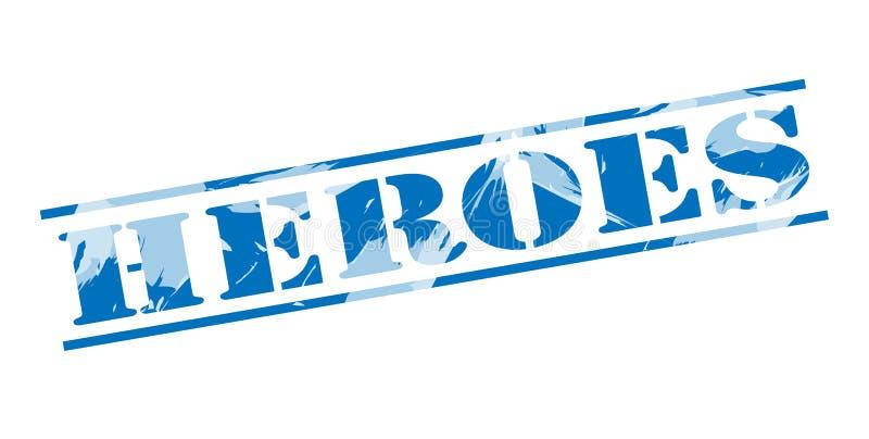 Helden blauwe zegel stock illustratie
