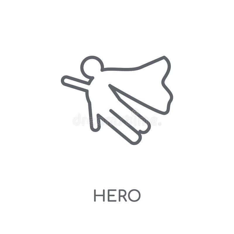 helden lineair pictogram Modern het embleemconcept van de overzichtsheld op witte rug vector illustratie