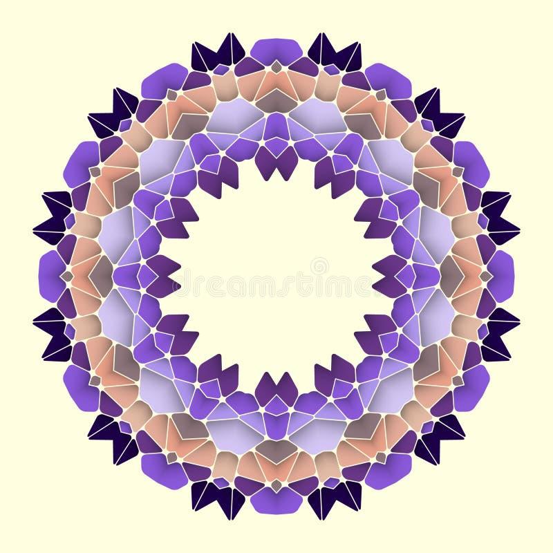 Helder abstract patroon, mandala royalty-vrije illustratie