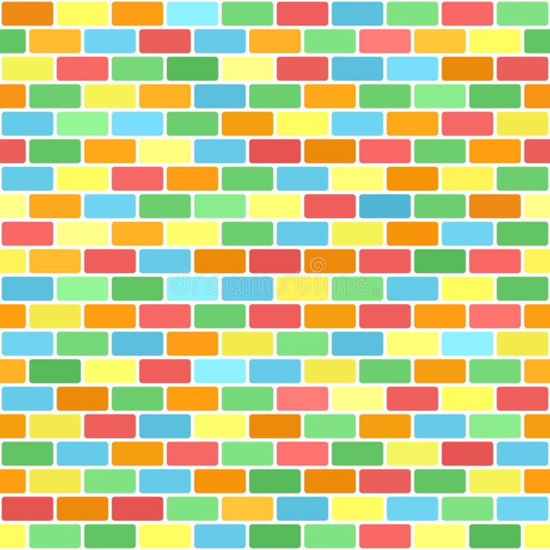 Helder bakstenen muurpatroon Naadloze vectorachtergrond royalty-vrije illustratie