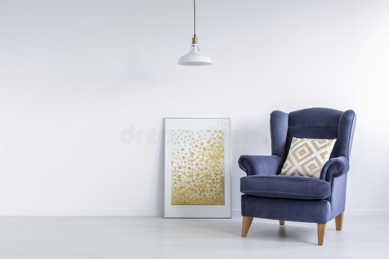 Helder binnenland met moderne affiche royalty-vrije stock afbeeldingen