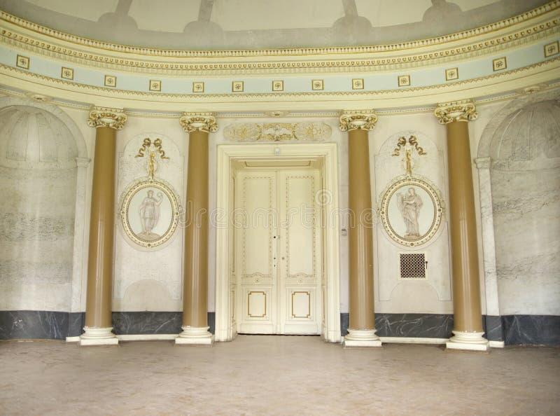 Helder binnenland van het oude gebouw royalty-vrije stock fotografie