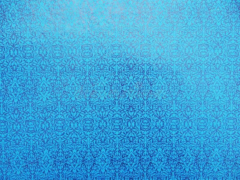 Helder blauw behang vector illustratie