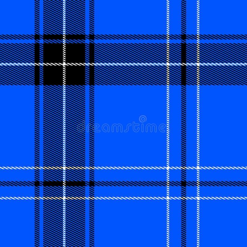 Helder blauw geruite Schotse wollen stof vector illustratie