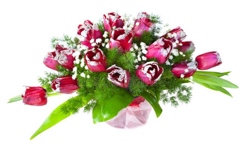 Helder bloemboeket van tulpen royalty-vrije stock foto's