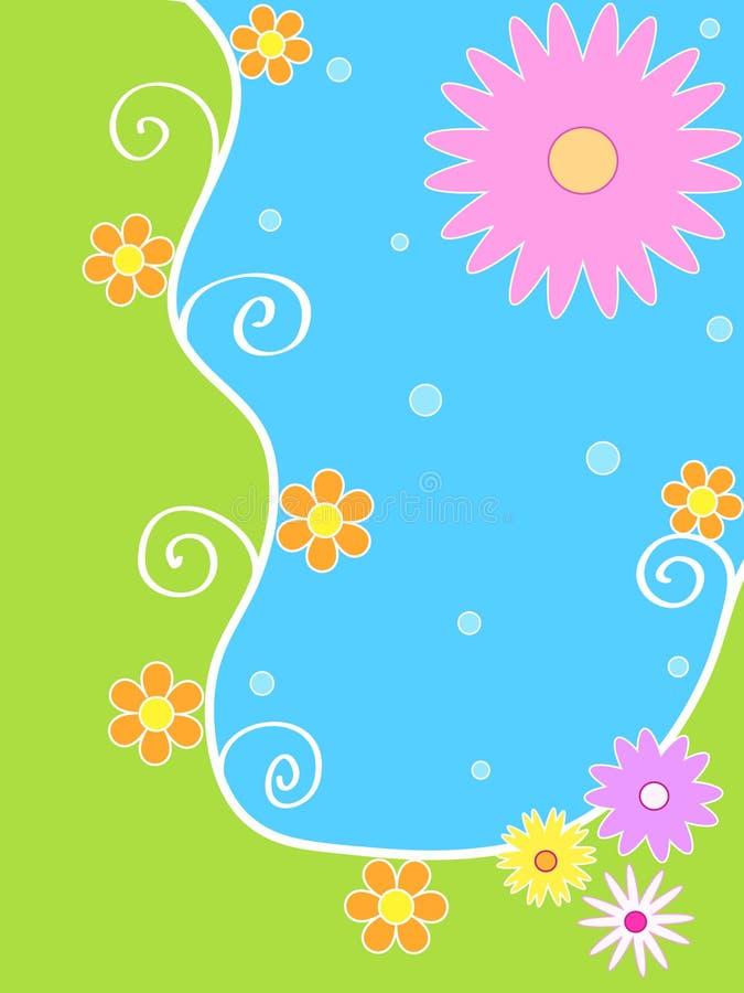 Helder bloemenontwerp stock illustratie