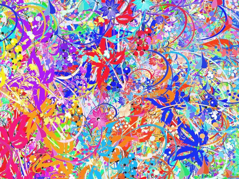 Helder bloemenpatroon stock illustratie