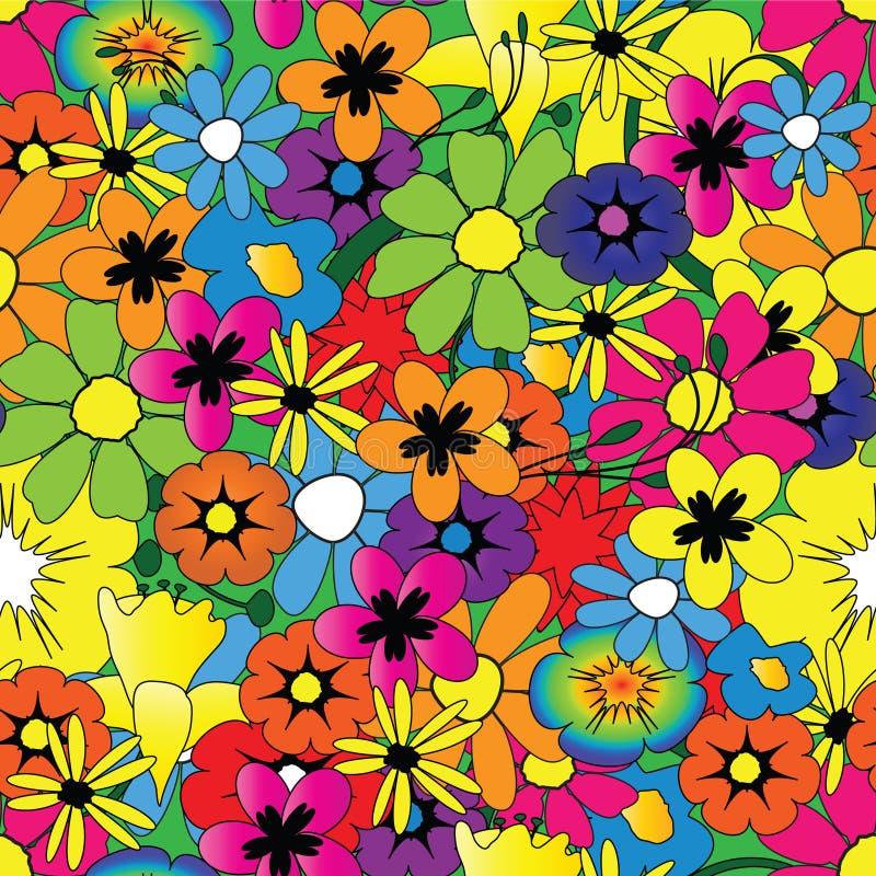 Helder bloempatroon vector illustratie